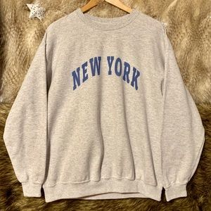 Brandy Melville Grey New York Sweatshirt